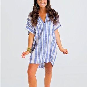 NWT Linen Stripe Dress.
